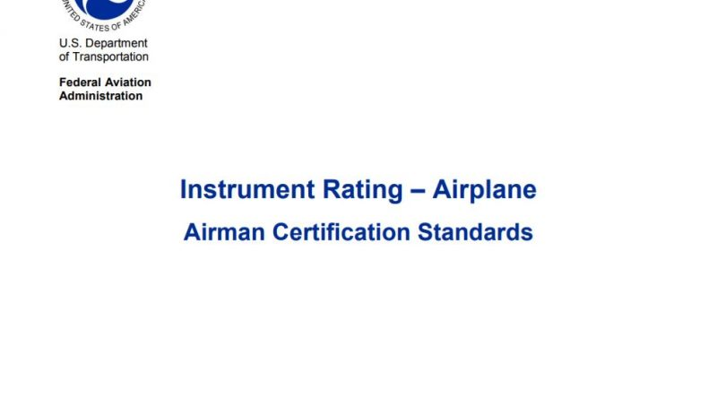 Instrument Rating Airplane ACS
